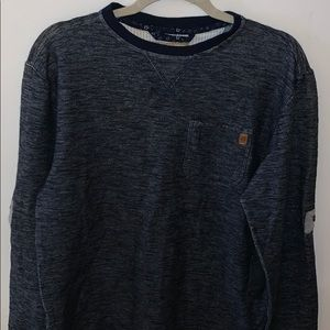 Men's sweater shirt navy blue with chest pocket